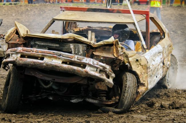 Car Crashing Into Driver S Door At Demolition