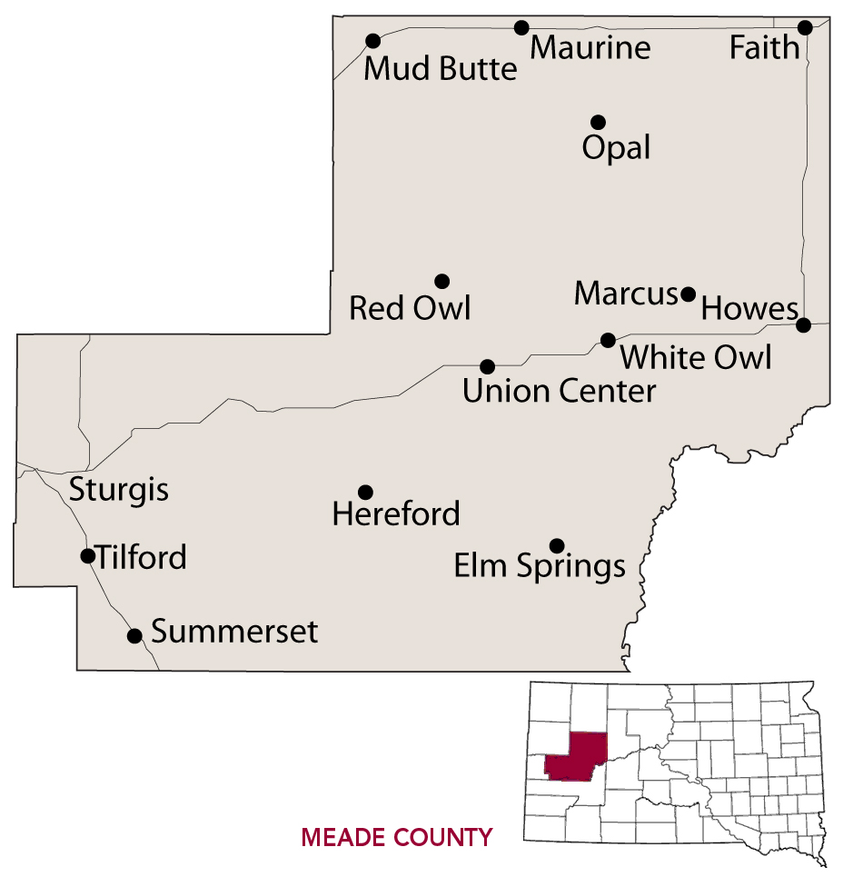 South dakota meade county howes - Meade County At 3 471 Square Miles Is The Largest County In South Dakota And Its Geographical Vastness Is Matched By The Variety Of Experiences Travelers