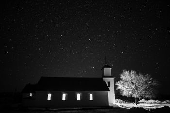 Holy Rosary Catholic Church of Trail City on the Corson and Dewey County line.