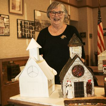 Feilmeier returned to her gingerbread roots in 2020, recreating the first building she ever made, a church, as part of an 1880s Western village.