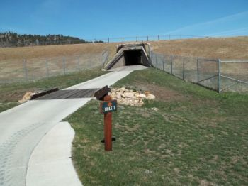 A tunnel under the interstate is the gateway to golf fun at Elkhorn Ridge. Click to enlarge photos.