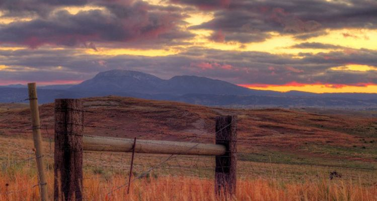 A dramatic sunset over Spearfish. Photo by John Mitchell.