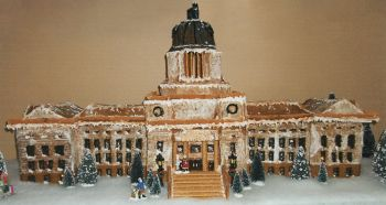 The South Dakota State Capitol in edible form.