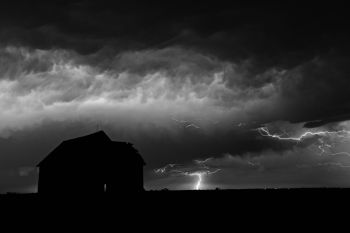 A summer storm in rural McCook County.