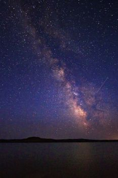 Lack of light pollution makes for stunning night skies, as in this photo of the Milky Way.
