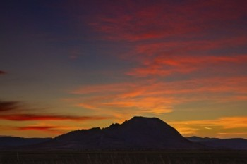 A late December sunset on Bear Butte.