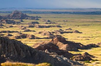 Badlands National Park from the Cedar Pass area.