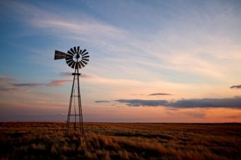 A lonely Dewey County windmill.