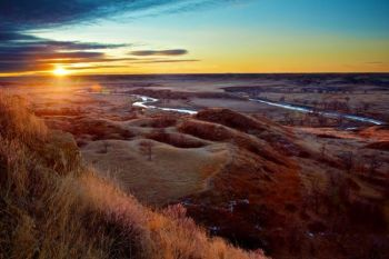 Sunrise over one of Christian's favorite bends in the Moreau River between Dupree and Isabel, SD.