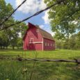 A restored red barn is part of the Adams Homestead and Nature Preserve s homestead area. Photo by Christian Begeman.