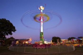 As the sun sets, the Sioux Empire Fair midway starts to come alive. Click to enlarge photos.