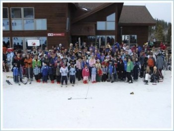 The Watertown Snow Drifters ski group, ready for a day of winter fun. Click to enlarge photos.