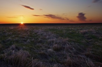 The sun rises on the open prairie. Click to enlarge photos.