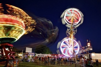 A longer shutter time enables you to see the fair's bright lights in a new way.