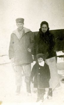 An early 1920's glimpse at Begeman's grandfather and his mother and sister.