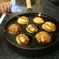 Æbleskiver require a special pan. Photo by Chris Moore.