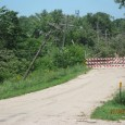 The road to Flandreau Indian School.