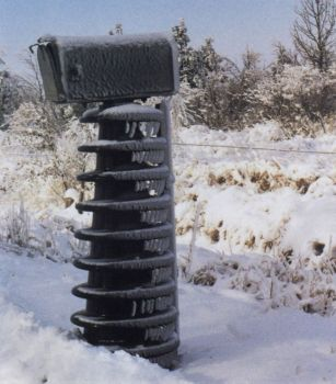 Janice Mikesell spotted this very sturdy mailbox near Canistota.