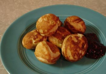 Æbleskiver is a traditional Danish pancake served every year at Viborg's Danish Days celebration.