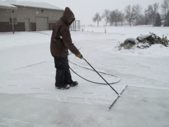 The snow rake — an ice-making miracle wand.