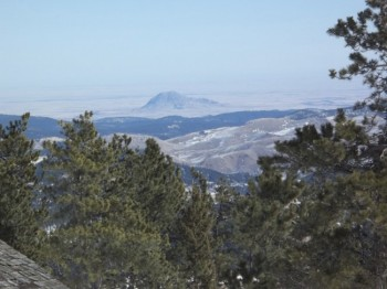 Bear Butte as seen from the top of the peak.