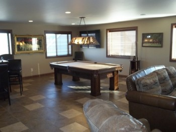 The pool table is an ideal educational tool for any guyshed-owning parent.