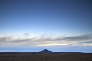 Thunder Butte was a landmark for Hugh Glass on his crawl across the prairies.