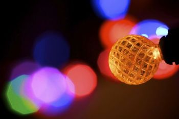 Christmas lights make beautiful macro photography subjects.