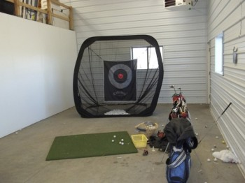 The guyshed and golf nets are a perfect fit for South Dakota winters.