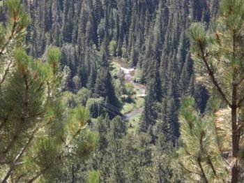 A view of Spearfish Canyon from the Annie Creek railroad bed.