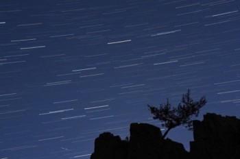Imaged-stacked star trails from Palisades State Park.