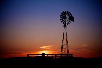 A working windmill in Perkins County's <a href='http://southdakotamagazine.com/grand-river-grasslands'>Grand River National Grasslands</a>.