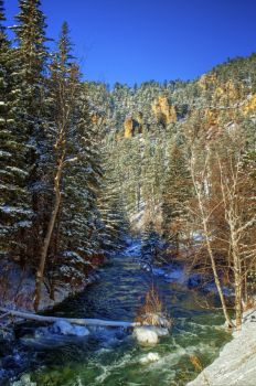 Spearfish Canyon in all its winter glory.