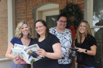 Our creative team includes (from left): Heidi Marsh, Laura Johnson Andrews, Andrea Maibaum and Jenessa Kniffen.