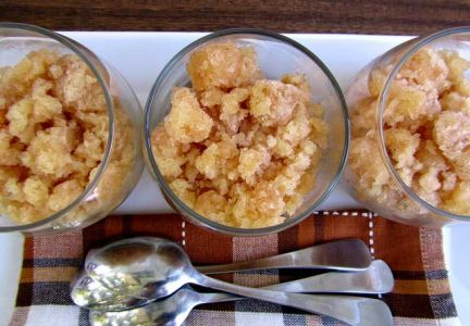 Apple Pie Granitas provide the flavors of fall in a cool summer treat.