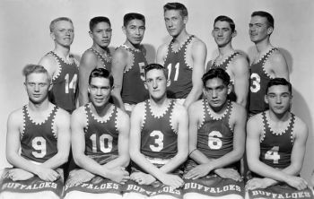 Gann Valley's starts included Marvin Speck (11), Alfred St. John (5) and the amazing Ray Deloria (6) who also had a tough home life but amazed his coach, teammates and spectators with his basketball abilities.