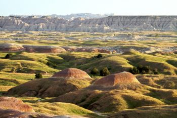 A view of the Badlands from the Sage Creek Wilderness road.