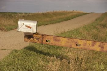 Bernie Hunhoff discovered this far-reaching mailbox in Charles Mix County in 2008.