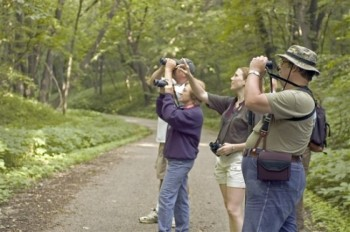 A family birding expedition. Photo by SD Tourism.