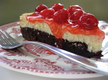 Celebrate Cheesecake Day early with some brownie cherry cheesecake goodness.