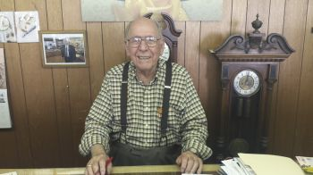 Jack Vondra of Vondra's Jewelry was able to fill Carl and Jan in on Bridgewater history.