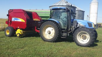 A much newer New Holland.