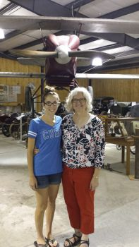 Kelsey Ortman and Cheryl Koch of the Heritage Hall Museum.