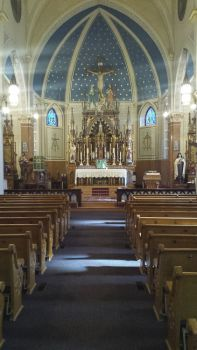 Inside St. Mary's.