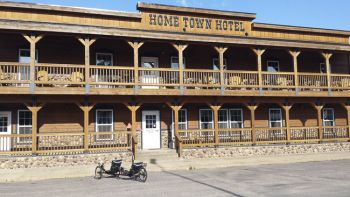 The Home Town Hotel was built after a fire destroyed much of Willow Lake's Main Street.