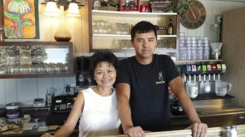 Toni Carey and her son, Will, operate Diner 34 of Howard.