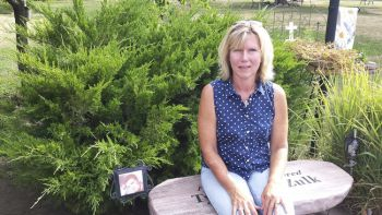 Canova's memorial garden was created by Tammy Zulk in honor of her son, Tyler.