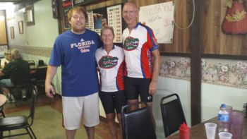 Three Gators in the Wildcat Inn Cafe: Jerico Shape, Jan and Carl Brush.