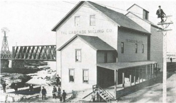 One casualty of the flood of 1881 was a structure that housed the Cascade Milling Company, located on the banks of the Big Sioux.