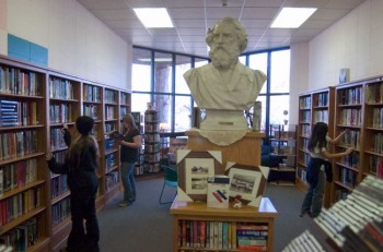 Centerville's citizens share a modern community library — and Socrates — with their school system, which ranks among the best in South Dakota.